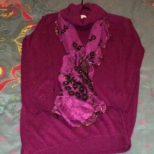 JustFab sweater dress SZ L